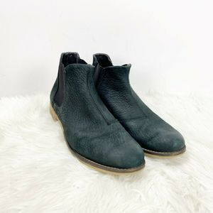 🇺🇸Josef Seibel Black Leather Chelsea Booties
